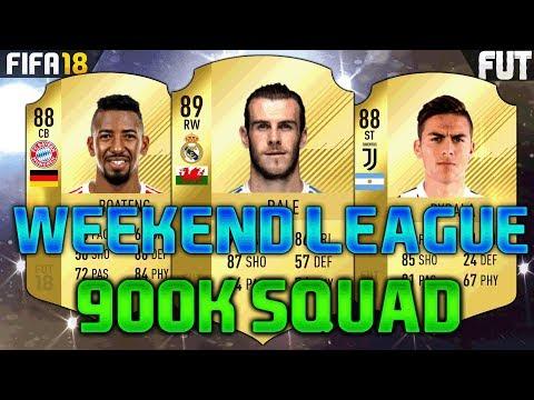 FIFA 18 800K-900K SQUAD BUILDER feat. BALE, DYBALA, BOATENG - FUT CHAMPIONS TEAM