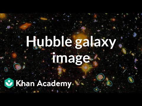 Hubble Image of Galaxies