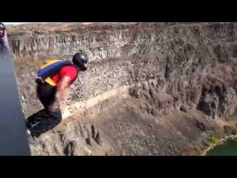 Base Jumping at Twin Falls Sept 2015