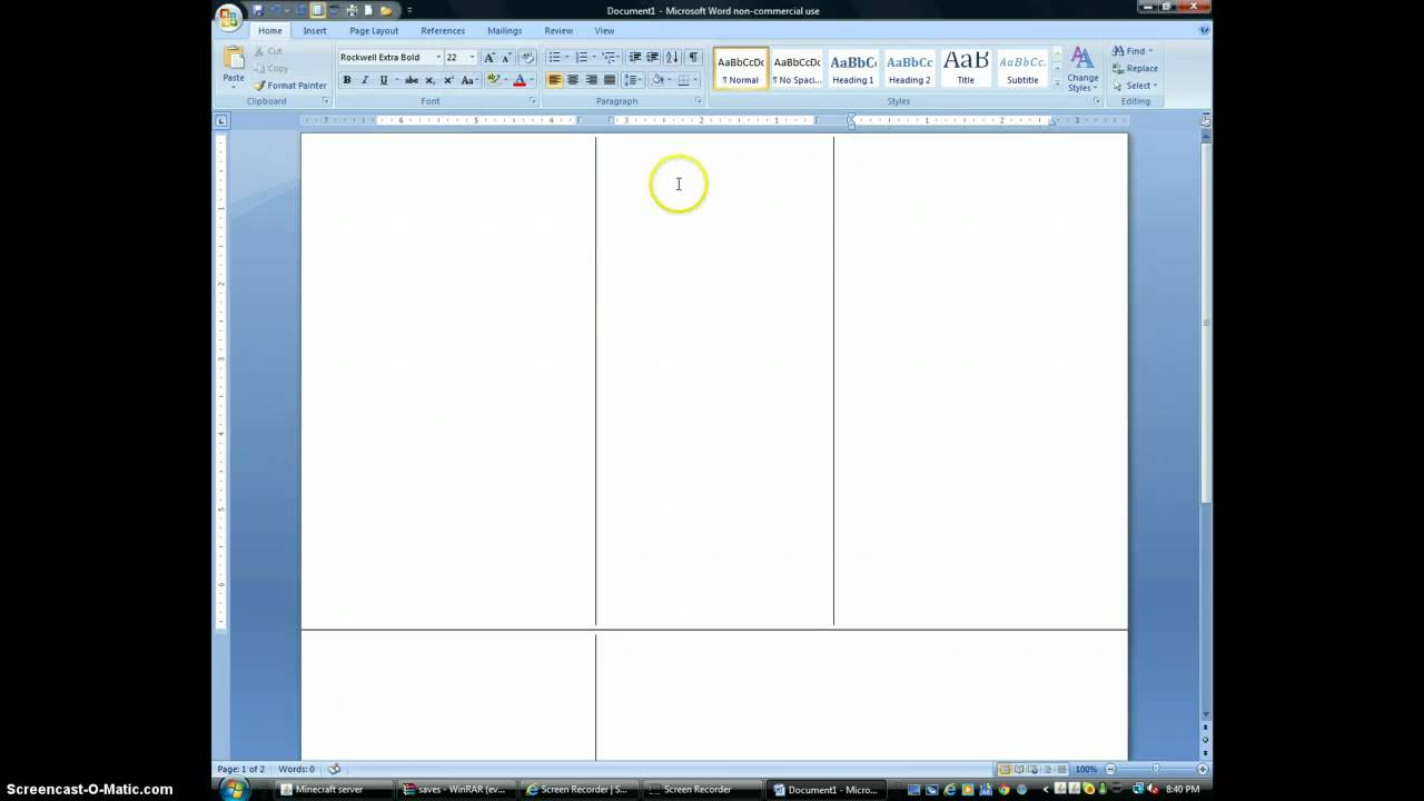 how to make a brochure on microsoft word