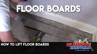 Lifting floor boards