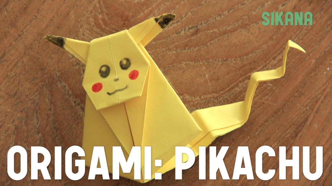 Origami faire un pikachu en papier hd youtube - Comment faire des origamie ...