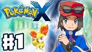 Pokemon X And Y Gameplay Walkthrough Part 1 Intro And