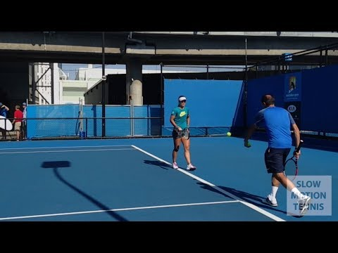 Li Na (李娜) - Australian Open 2014 Slow Motion Serves and Backhand in HD