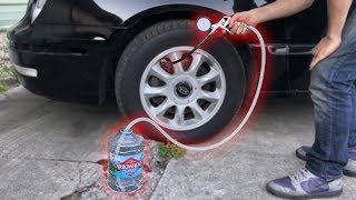Filling a CAR TIRE with WATER!