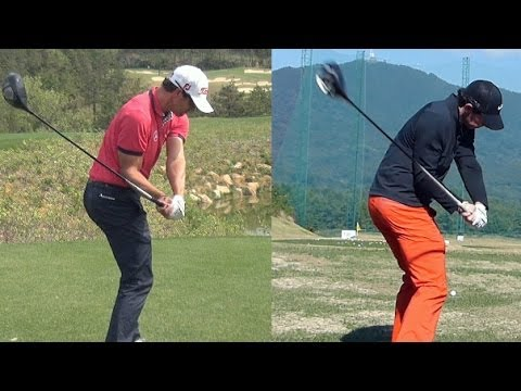 [1080p HD] Rory Mcilroy vs Adam Scott Driver Golf Swing