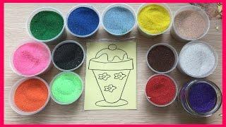 Đồ chơi trẻ em TÔ MÀU TRANH CÁT HÌNH LY KEM NGON - Colored Sand Painting (Chim Xinh)