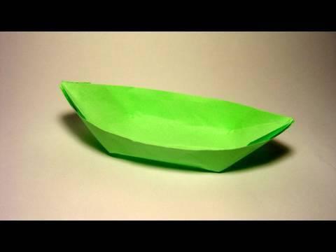 Origami Boat (canoe) - YouTube