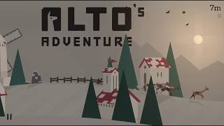 Alto's Adventure level '11' Land '3' back flips with Maya in one run