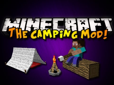 Minecraft: The Camping Mod - TENTS, CAMPFIRES, & MORE! (HD),