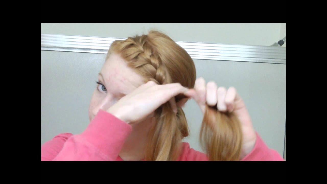 french braided headband into messy bun youtube rachael