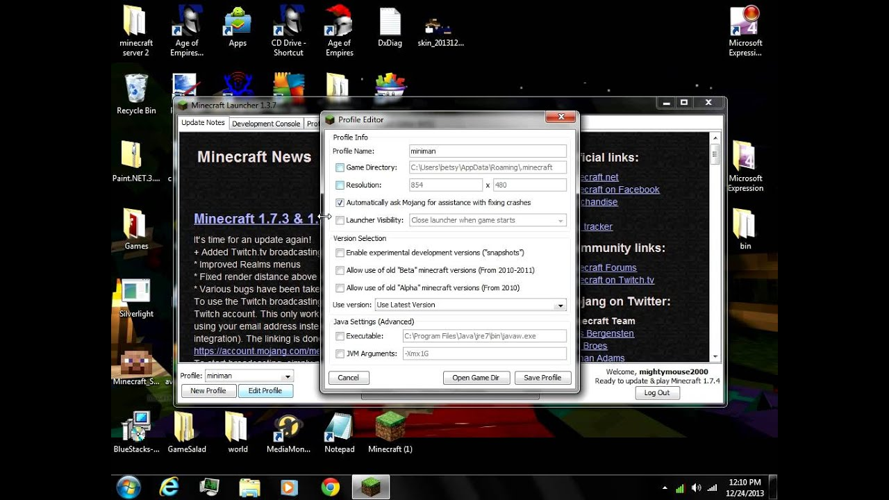 Download for new minecraft launcher
