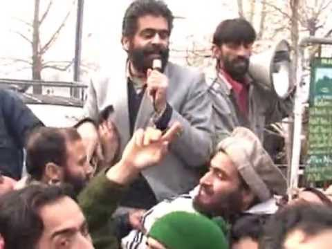 Nayeem Khan Kashmir addressing a protest rally in srinagar