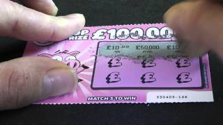 £50,000 Winning LOTTERY Scratch Card CAUGHT ON TAPE