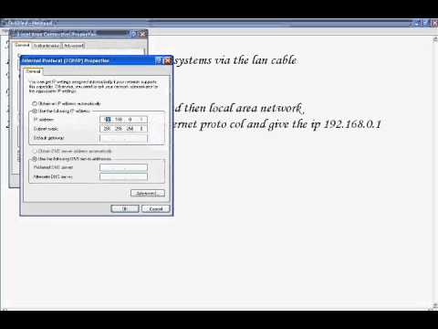 How to connect via LAN cable.wmv