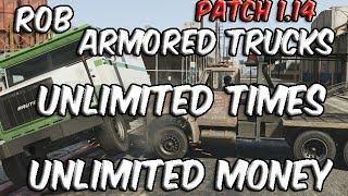 GTA V (GTA 5) Glitches- Armored Truck GLITCH- Unlimited