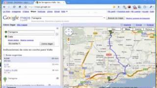 Crear y modificar ruta en Google Maps