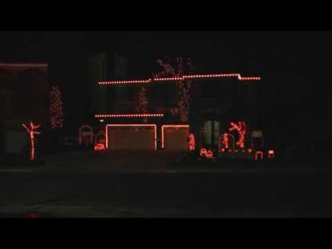 Halloween Light Show 2009 HD - Haunted Mansion (Disney)