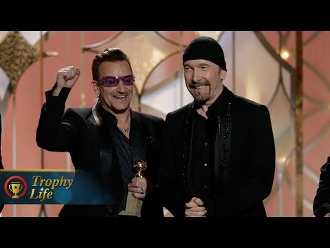 U2's Emotional Acceptance Speech 2014 Golden Globe Awards