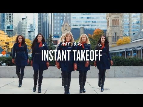 Air France's Marketing stunt in Toronto: AF351 Instant Takeoff Contest