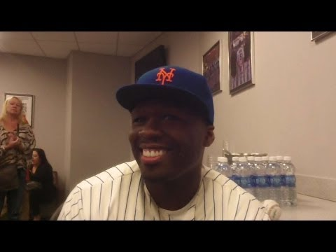 PIT@NYM: 50 Cent on tossing first pitch at Citi Field