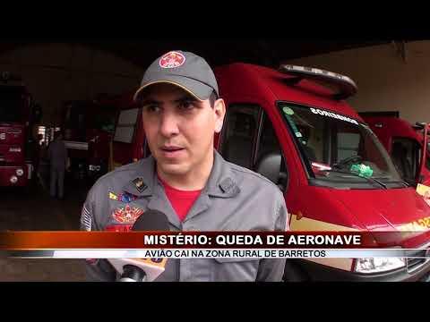 25/08/2018 - Queda de aeronave bimotor é registrado na zonal rural em Barretos