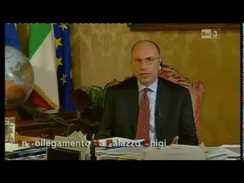 Il Presidente del Consiglio, Enrico Letta, intervistato da Fabio Fazio a