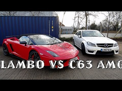 My First Supercar: Lamborghini vs C63 AMG