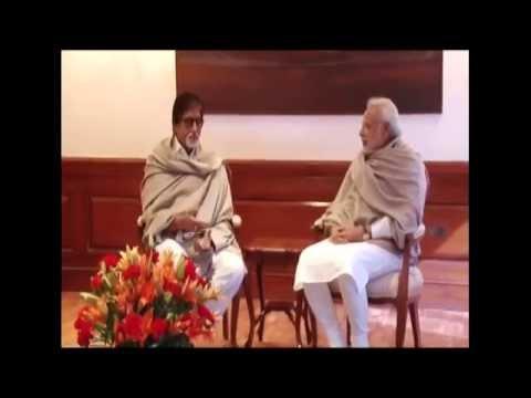 Film Actor Amitabh Bachchan calls on PM Modi