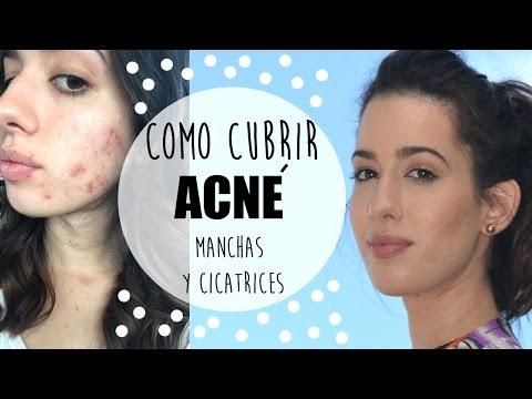 Como cubrir acné, manchas y cicatrices! FÁCIL Y NATURAL!