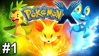 Pokemon X And Y Gameplay Let's Play Choosing My Starter