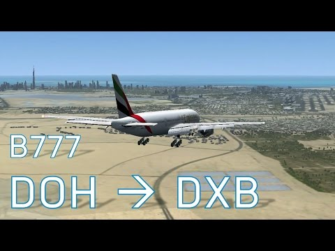 FSX Series 6 Episode 4 - Full Flights -  Doha to Dubai