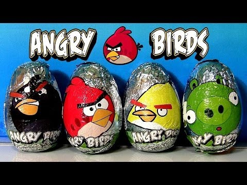 Angry Birds Surprise Eggs With Chocolate Egg by DisneyCollector Red Bird Bad Piggies