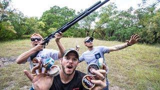 Skoal Can SKEET SHOOTING!! ft. DemolitionRanch & LunkersTV