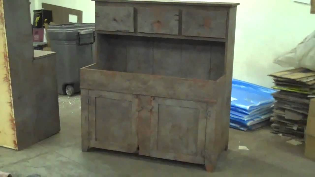Primitive Furniture Arnett 39 S Drysink Cupboard Primitiques