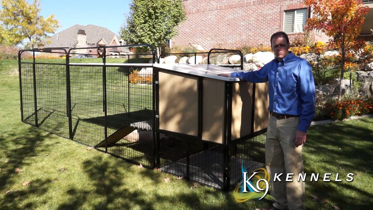 K9 kennel store kennel castle for large breed dogs youtube for Giant breed dog kennel