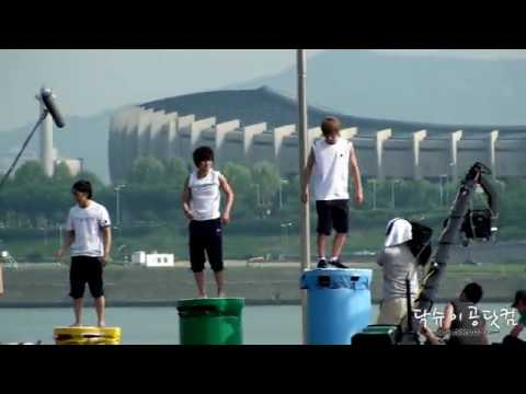100602 Jumping game @ Super Junior Dream Team recording