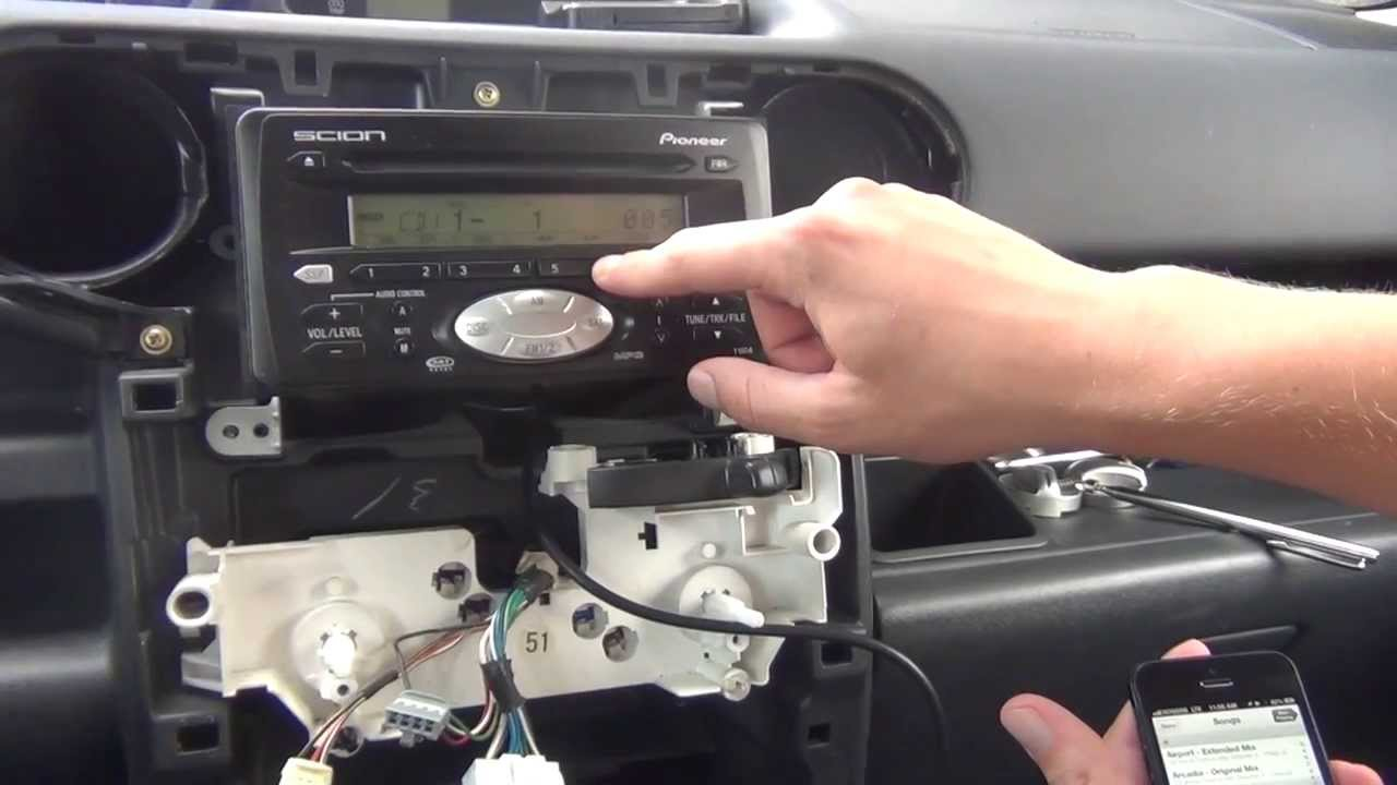 how to install radio in 2005 scion tc autos weblog. Black Bedroom Furniture Sets. Home Design Ideas