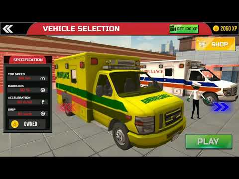 Stickman Rescue Ambulance Drive | Gameplay kids fun | Kids Video | Hannu Games