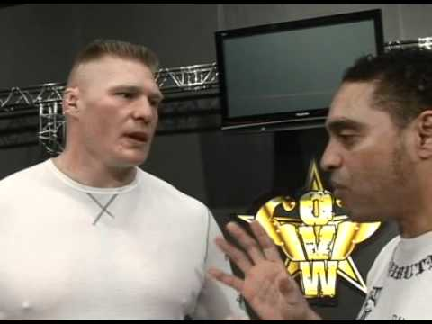 Brock Lesnar interviewed by Rock Cruz