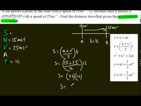 Mechanics 1 - M1 - Kinematics of a Particle (1) Intro-Constant Acceleration Equations SUVAT