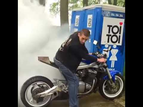 Very cool and funny motorcycle crash and stunts attempt compilation