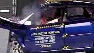 Suzuki Forenza IIHS Frontal Offset Crash Test videos