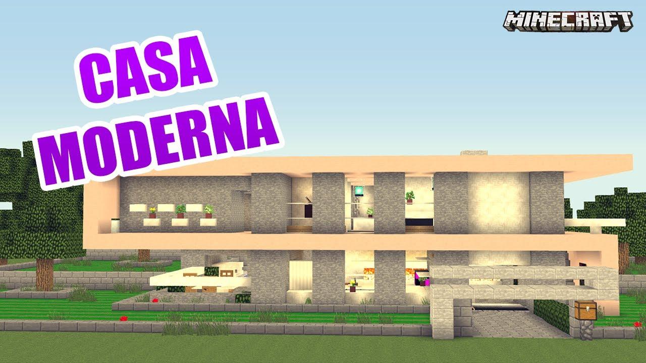 Minecraft casa moderna de lujo y bonita youtube for Casa moderna 5x5 minecraft
