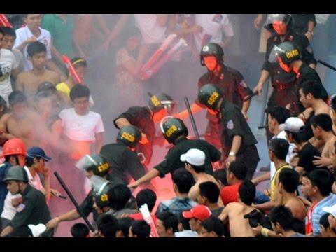 Người dân Hà Tĩnh đánh nhau với cảnh sát cơ động 6/4/2015