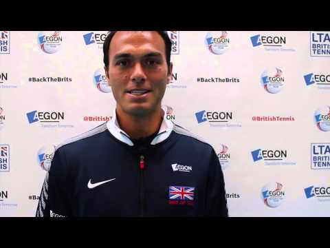 Ross Hutchins interview before Davis Cup tie against Italy