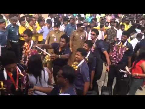 Srilankan Cricket team has Arrived (2014-04-09)