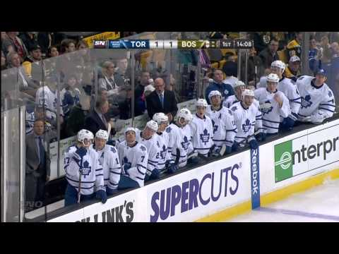 Bozak Goal - Leafs 1 vs Bruins 1 - Jan 14th 2014 (HD)