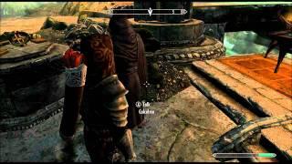 Skyrim: Bring A Dwarven Battleaxe Of Fire To Calcelmo