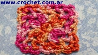 Motivo Cuadrado Granny Square N° 2 En Tejido Crochet